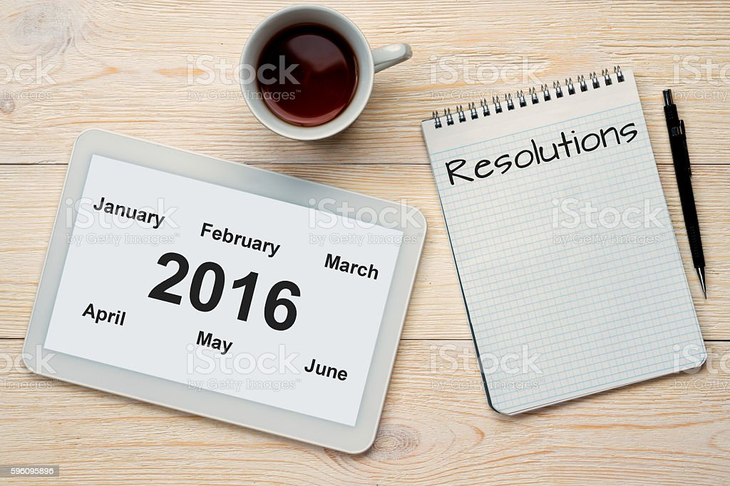 2016 half year months and resolutions royalty-free stock photo