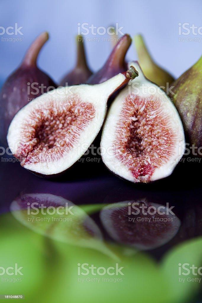 Halfed Fig royalty-free stock photo