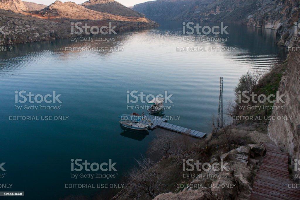 Halfeti Firat River stock photo
