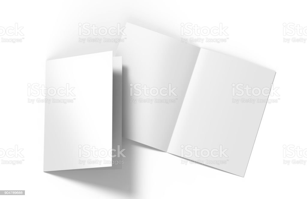 A3 A4 A5 Halffold Or Byfold Brochure Blank White Template For Mock