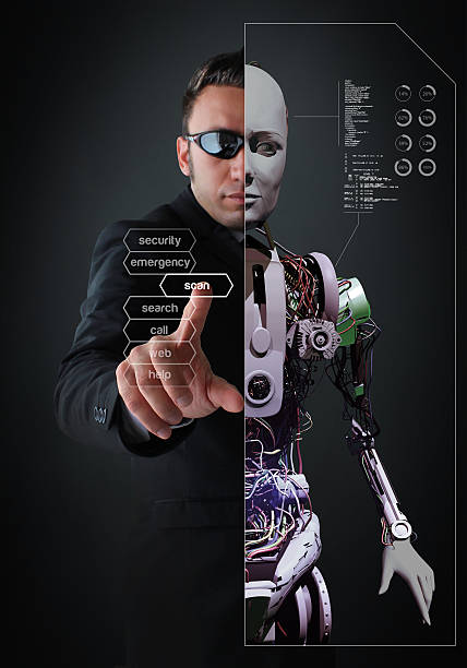 Half-Human, Half-Android stock photo
