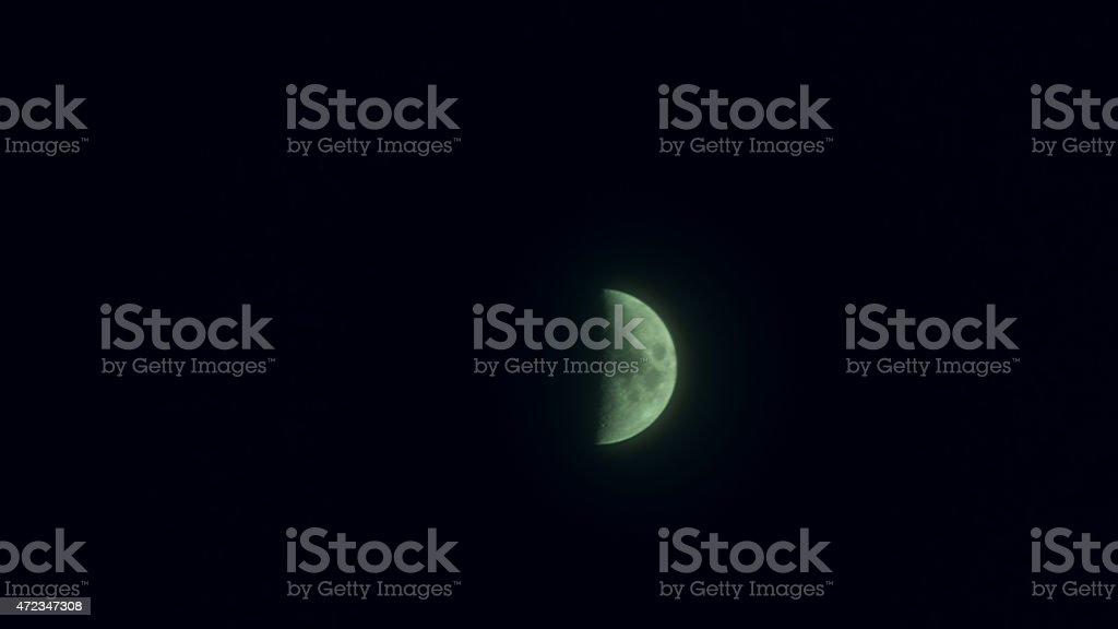 Half-Moon shining stock photo
