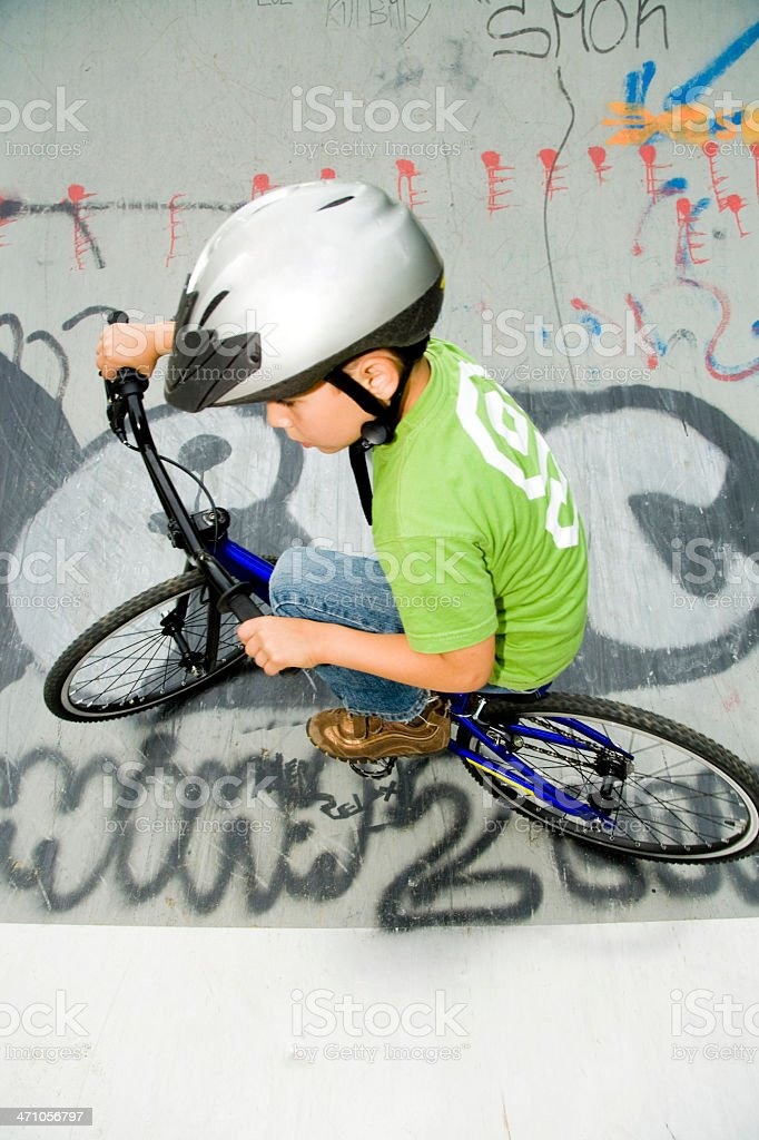 BMX Halfpipe Action royalty-free stock photo