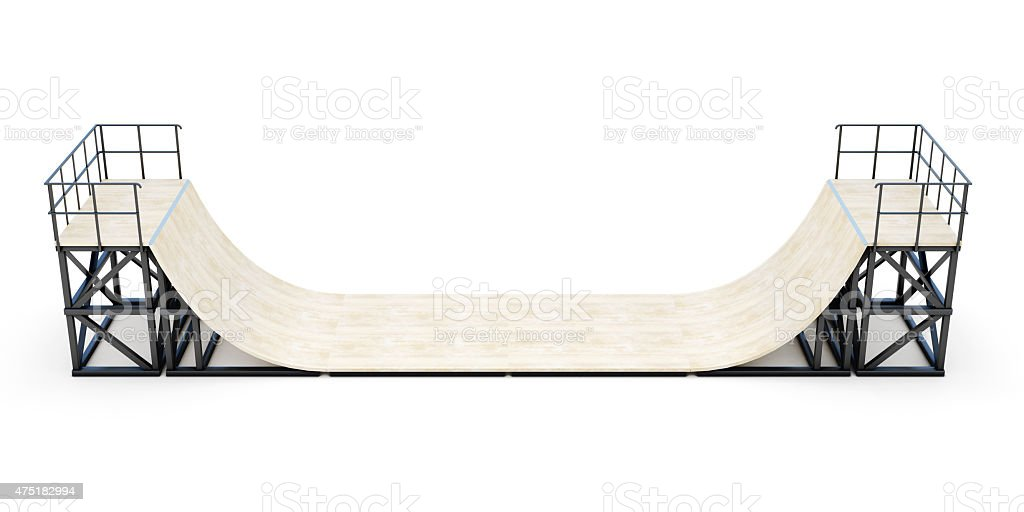 Halfpipe element stock photo