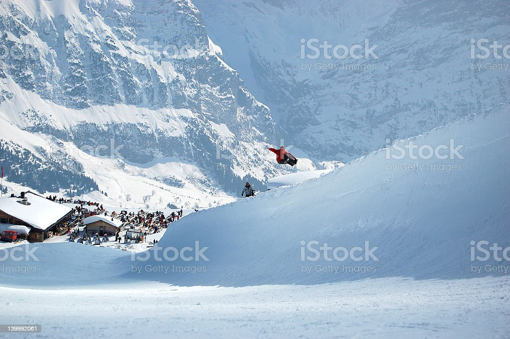 Halfpipe Grab stock photo