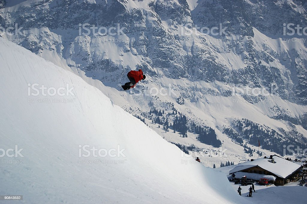 Halfpipe Nose Grab stock photo