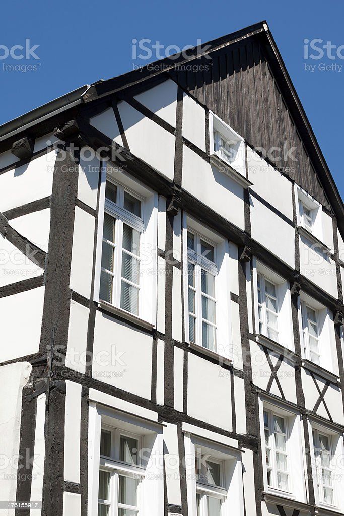Half-timbered building royalty-free stock photo
