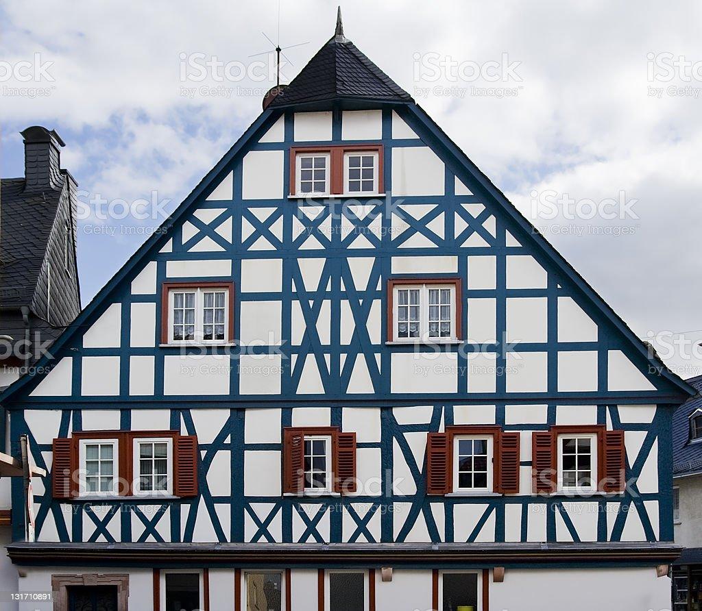 Half-timbered house, facade stock photo