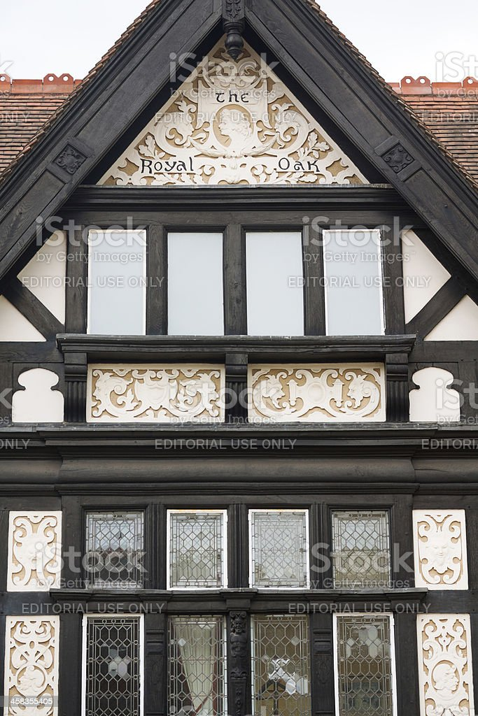 Half-timbered house in Derby stock photo