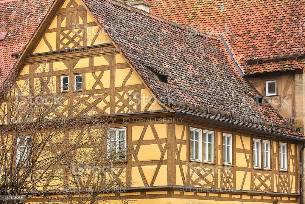 Half-timbered House, Rothenburg ob der Tauber, Germany royalty-free stock photo
