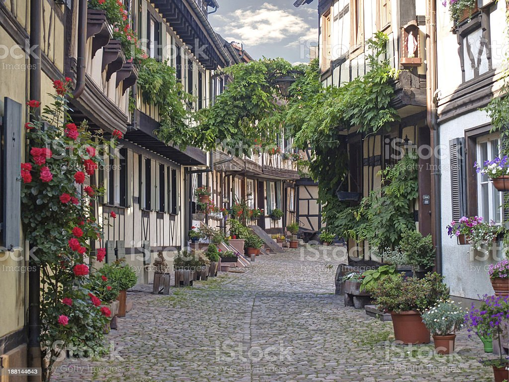 Half-timbered houses Gengenbach Black Forest stock photo