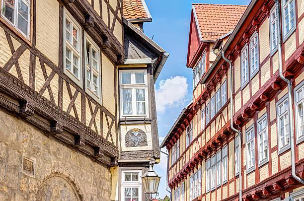 Half-timbered houses in Quedlinburg, Germany – Foto