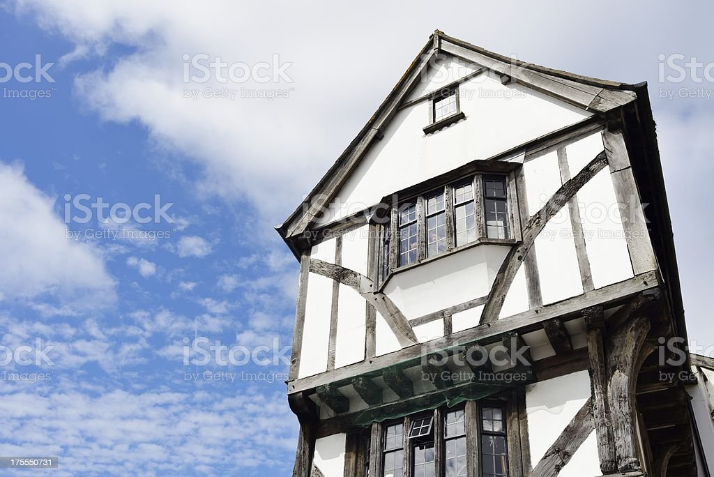 Half-Timbered Tudor Style English Building stock photo