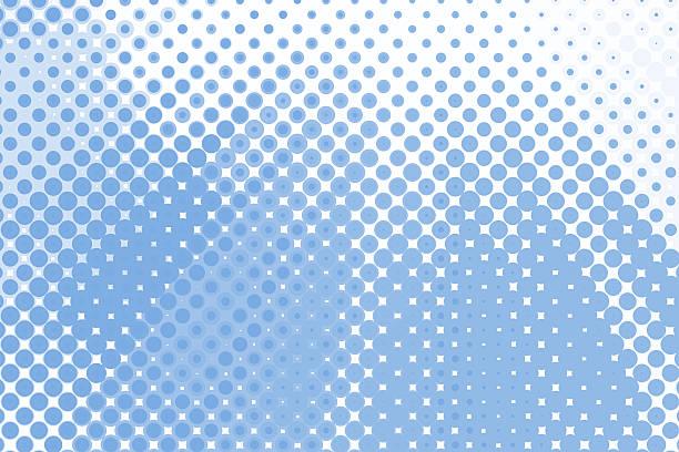 Halftone Background Blue - Photo
