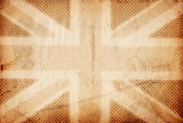 Halftone British Flag XXXL stock photo