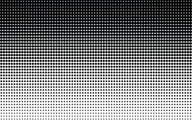 halftone dots. - pop art stock photos and pictures