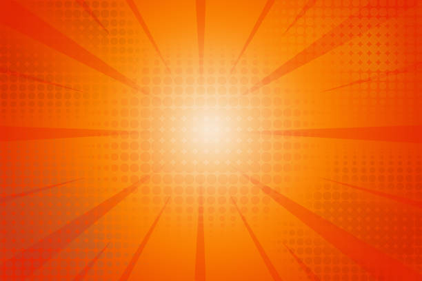 Halftone dots rays background stock photo