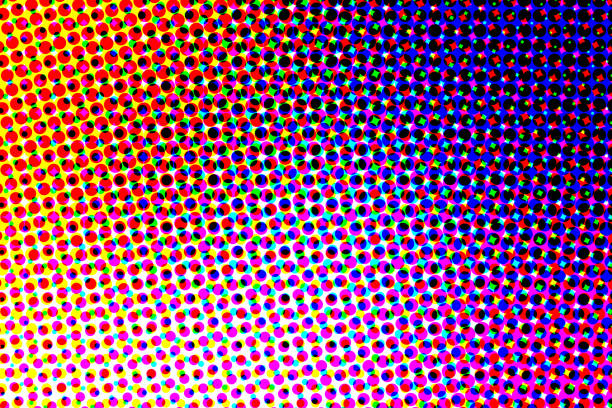 halftone effect background - pop art stock photos and pictures