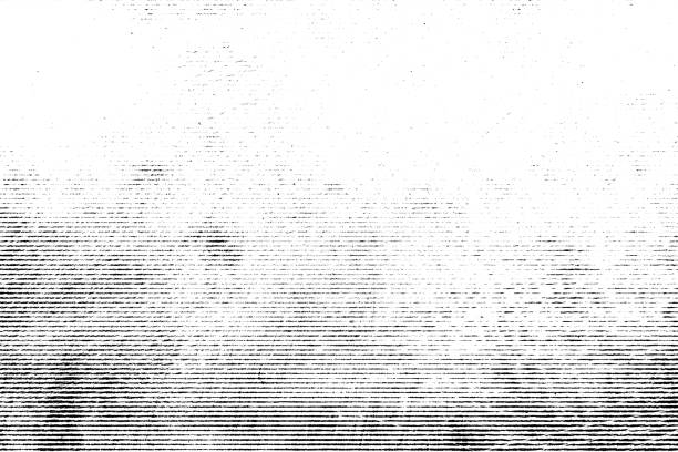 halftone monochrome grunge horizontal lines texture. - in a row stock pictures, royalty-free photos & images