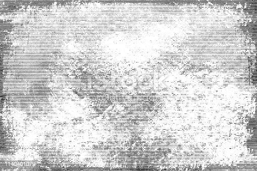 1141265505istockphoto Halftone monochrome grunge horizontal lines texture. 1140401079