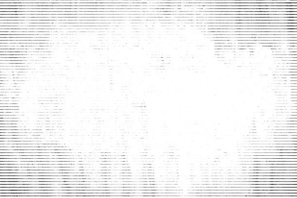 halftone monochrome grunge horizontal lines texture. - background lines imagens e fotografias de stock