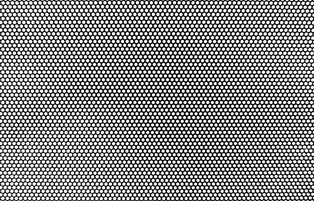 Halftone style pop art abstract background, illustration circle pattern black and white. stock photo