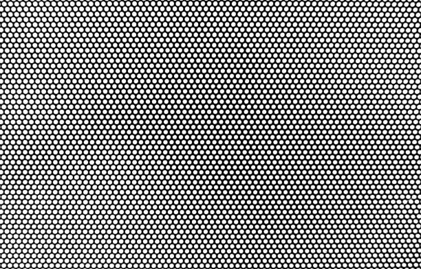 Demi-teinte style pop art abstrait, illustration cercle motif noir et blanc. - Photo