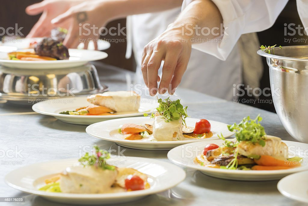 Halibut Entree stock photo
