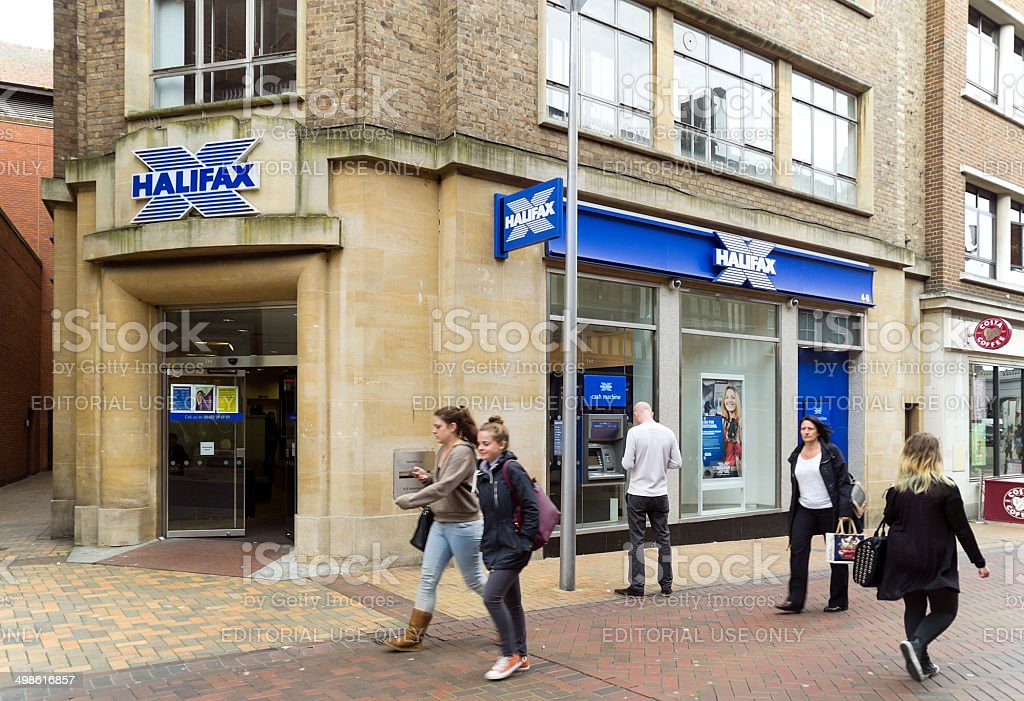 Halifax Bank branch in Ipswich royalty-free stock photo
