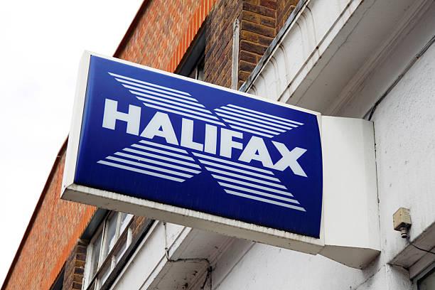 halifax bank-schild - beckenham town stock-fotos und bilder