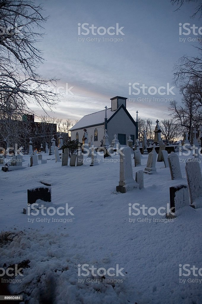 Halifax cemetery at night royalty-free stock photo