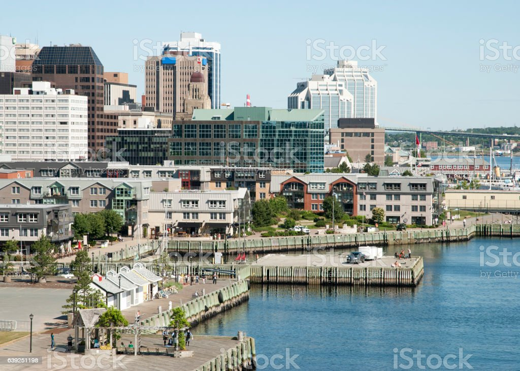 Halifax City Promenade stock photo