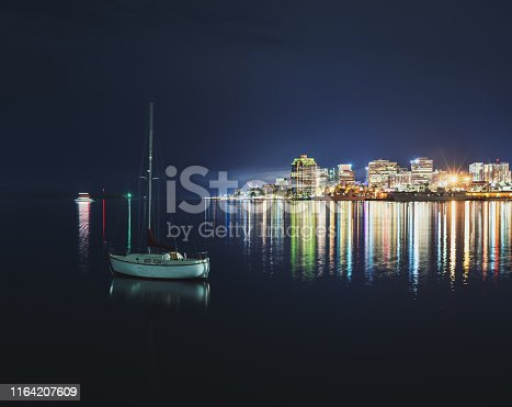 A still night in Halifax Harbour.  Long exposure.
