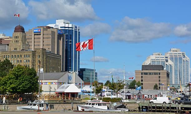 halifax-harbourfront - nova scotia halifax stock-fotos und bilder