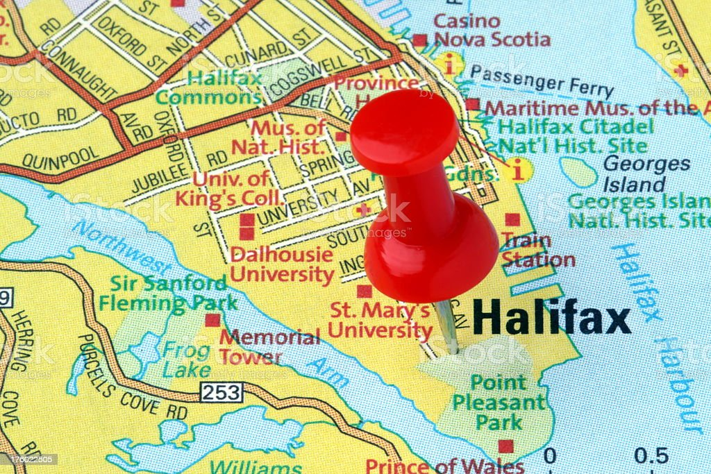 Map Of Canada Halifax.Halifax Nova Scotia Canada On A Map Stock Photo Download Image Now
