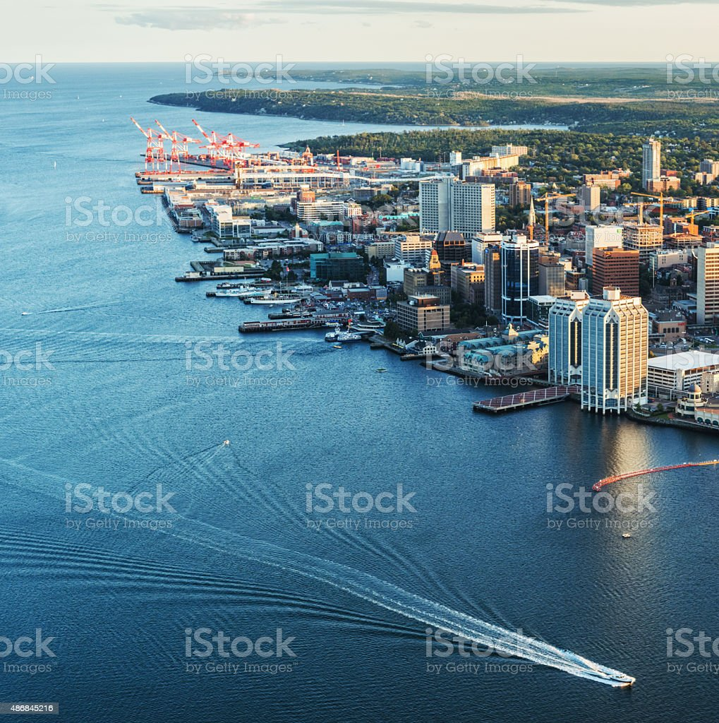 Halifax Skyline Aerial stock photo