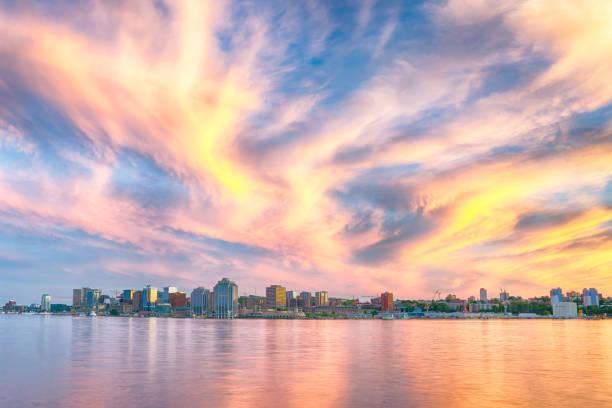 Halifax Skyline at Sunset stock photo