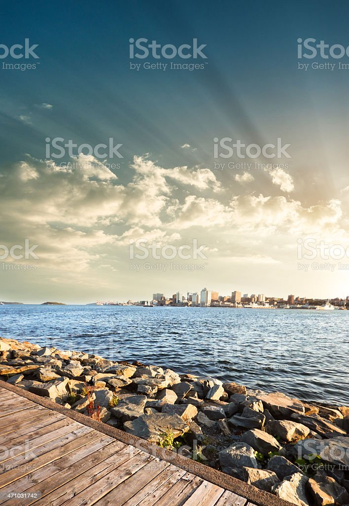 halifax skyline stock photo