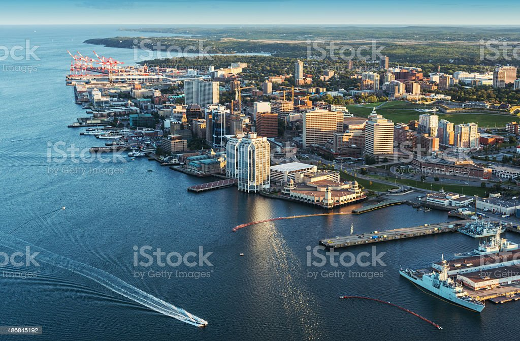 Halifax  Waterfront Aerial View stock photo