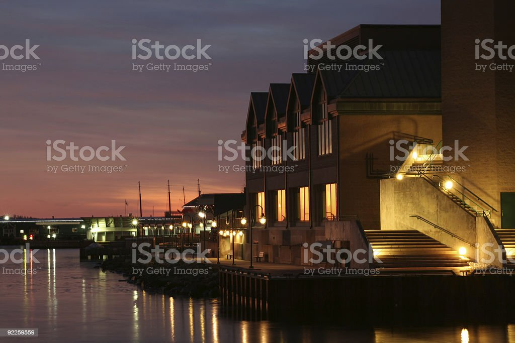 Halifax Waterfront at Twilight royalty-free stock photo