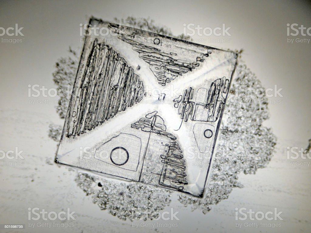 halite crystal stock photo