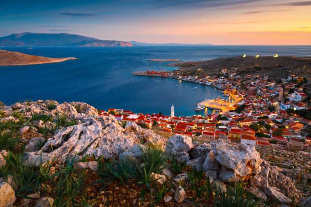 Halki, Greece. stock photo