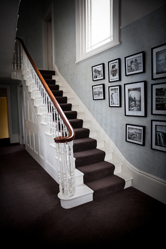 Staircase in a british residential house