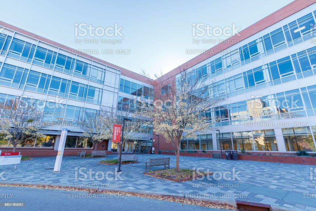 SAS Hall at NC State University stock photo