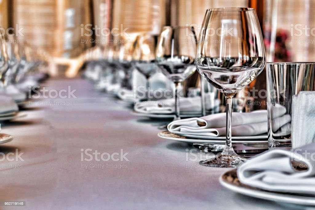 hall banquet wedding party table dinner event reception stock photo