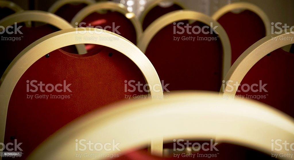 Hall chairs royalty-free stock photo