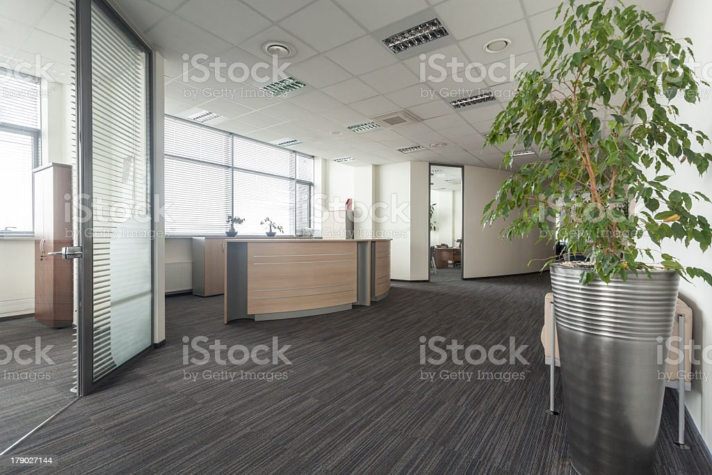 Hall in office stock photo