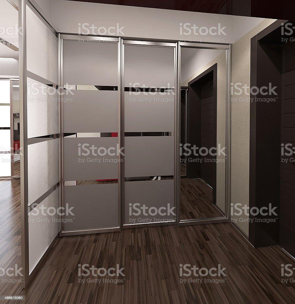 Hall, modernes design, 3D render – Foto