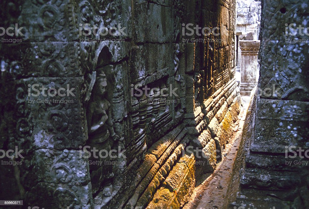 Hall of Angkor Wat in sunlight. royalty-free stock photo