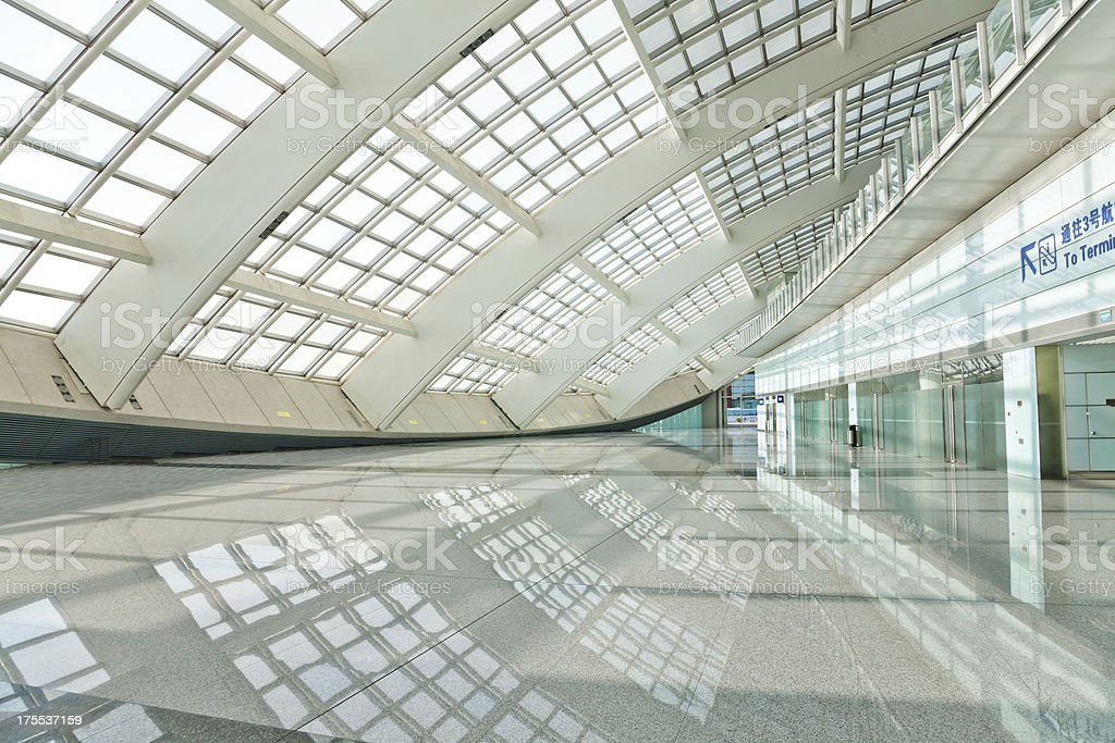hall of beijing T3 airport station royalty-free stock photo